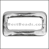 Flat RECTANGLE slider ANTIQUE SILVER - per 10 pieces