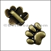 5mm flat PAW slider ANT BRASS - per 10 pieces