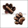 5mm flat PAW slider ANT COPPER - per 10 pieces