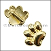 5mm flat PAW slider SHINY GOLD - per 10 pieces