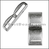 10mm flat DOUBLE WIDE BAR slider ANTIQUE SILVER - per 10 pieces
