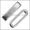 13mm flat ROUNDED BAR slider ANTIQUE SILVER - per 10 pieces