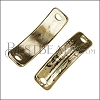 5mm flat RUSTIC FRAME slider SHINY GOLD - per 5 pieces