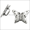 5mm flat FANCY BUTTERFLY slider ANT SILVER - per 10 pieces
