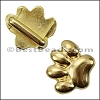 10mm flat PAW slider SHINY GOLD - per 10 pieces