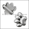 10mm flat PAW slider ANTIQUE SILVER - per 10 pieces
