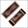 10mm flat LONG LEATHER SETTING slider ANTIQUE COPPER - per 10 pieces