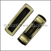 3mm flat SHORT LEATHER SETTING slider ANTIQUE BRASS - per 10 pieces
