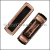 3mm flat SHORT LEATHER SETTING slider ANTIQUE COPPER - per 10 pieces