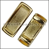 5mm flat SHORT LEATHER SETTING slider SHINY GOLD - per 10 pieces