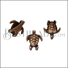 5mm flat SEA TURTLE slider ANT COPPER - per 10 pieces