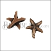 10mm flat SEA STAR slider ANT COPPER - per 10 pieces