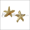 10mm flat SEA STAR slider SHINY GOLD - per 10 pieces