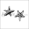 10mm flat SEA STAR slider ANT SILVER - per 10 pieces