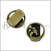10mm flat OPEN WAVE slider ANT BRASS - per 10 pieces