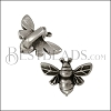 3mm flat HONEYBEE slider ANT SILVER - 10 pcs