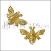 3mm flat HONEYBEE slider SHINY GOLD - 10 pcs