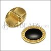5mm flat OVAL DOTS slider SHINY GOLD with BLACK - 10 pcs