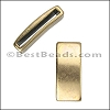 20mm flat PLAIN BAR slider ANT BRASS - per 10 pieces
