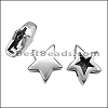 10mm flat REVERSIBLE STAR slider ANT SILVER - per 10 pieces