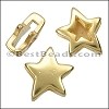 10mm flat REVERSIBLE STAR slider GOLD - per 10 pieces