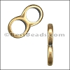 5mm round THIN DOUBLE slider ANT BRASS - per 10 pieces
