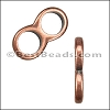 5mm round THIN DOUBLE slider ANT COPPER - per 10 pieces