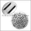 20mm flat MANDALA slider ANT SILVER - per 10 pieces