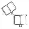 10mm Flat FRAME CHARMHOLDER slider ANTIQUE SILVER - per 10 pieces