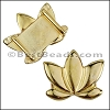 10mm flat LOTUS FLOWER slider GOLD- per 10 pieces