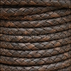 5mm Round Indian Braided Leather NAT CHARCOAL - 10m SPOOL