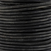 3mm round Indian leather - ANTIQUE black - 25m SPOOL