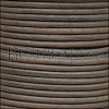 3mm round Indian leather - NATURAL CHARCOAL - 25m SPOOL