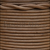 3mm round Indian leather - CEDAR BROWN - 25m SPOOL