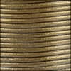 1.5mm round Indian leather - brown METALLIC - per 25m SPOOL