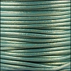 2mm round Euro leather METALLIC GOLDEN TEAL - per 25m SPOOL