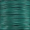 1mm round KANGAROO leather TURQUOISE - per 25m SPOOL