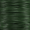 1mm round KANGAROO leather FOREST GREEN - per 25m SPOOL