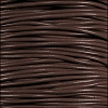 1mm round KANGAROO leather DISTRESSED BROWN - 25m SPOOL