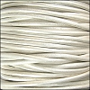1mm round KANGAROO leather METALLIC WHITE - per 25m SPOOL