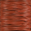1mm round KANGAROO leather BURNT ORANGE - per 25m SPOOL