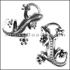 10mm flat LIZARD keychain - per 5 pieces