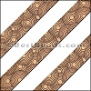 15mm Flat LASER ETCHED Leather Style 1 NATURAL - per strip