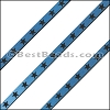 6mm Flat LASER ETCHED Leather Style 1 MET. DENIM - per strip