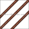 6mm Flat LASER ETCHED Leather Style 4 TAN - per strip