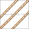 6mm Flat LASER ETCHED Leather Style 4 NATURAL - per strip