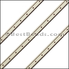 6mm Flat LASER ETCHED Leather Style 4 CEMENT - per strip