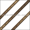 6mm Flat LASER ETCHED Leather Style 4 MET. BROWN - per strip