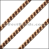 6mm Flat LASER ETCHED Leather Style 6 NATURAL - per strip