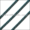 6mm Flat LASER ETCHED Leather Style 6 TURQUOISE - per strip